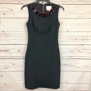Kate Spade Garnet Embellished Jeweled Sheath Dress